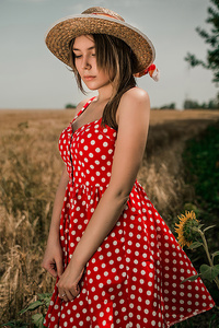 2160x3840 Girl Field Hat