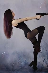 1440x2560 Girl Gun