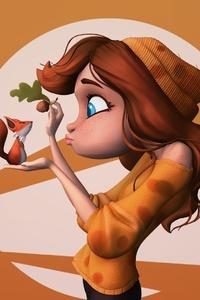 Girl Hazelnut Red Hair Squirrel