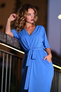 1080x2280 Girl In Blue Dress Evening 4k