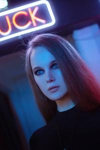 360x640 Girl In Neon Alley