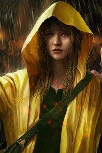 Girl In Rain Artwork