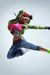 1080x2280 Girl Jumping Kick 5k