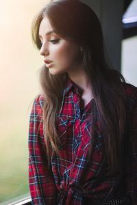 1080x2280 Girl Looking Down Portrait Shoot 5k