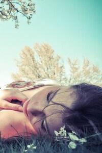Girl Lying Grass