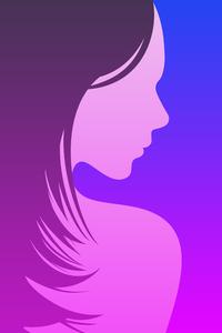 540x960 Girl Minimal Blur 8k