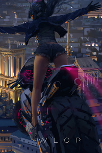 320x480 Girl On Bike 4k 2020