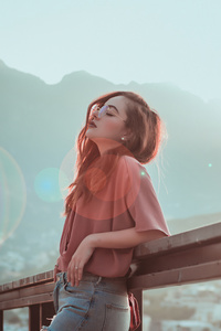 Girl Outfit Outdoor Sunglasses Relaxing