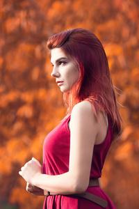 Girl Redhead Model 4k