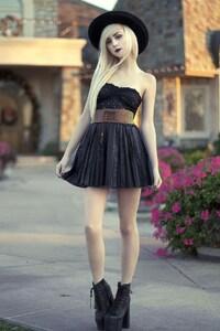 1242x2688 Girl Strapless Dress