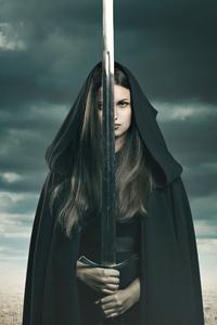 1080x2160 Girl Sword Oath 8k