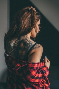 Girl Tattoos On Back