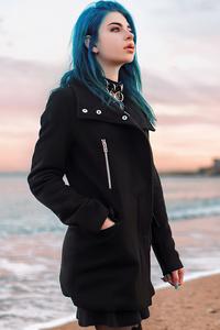 640x960 Girl Teal Hair Colour 5k
