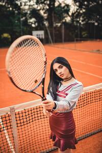 Girl Tennis Court