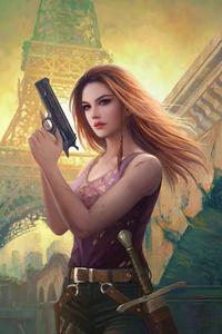 320x568 Girl With Gun 2020