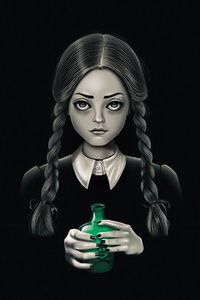 1125x2436 Girl With Poison The Addams