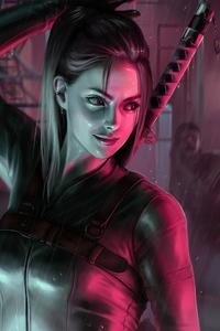 1440x2560 Girl With Swords In Back Fantasy 4k