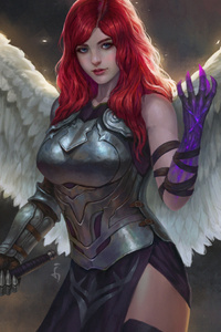 320x480 Girl With Wings