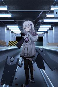 360x640 Girls Frontline Train Subway 4k
