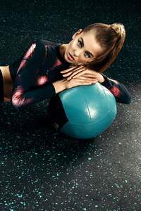Girls In Gym With Ball