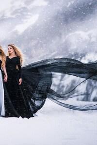 Girls In Snow