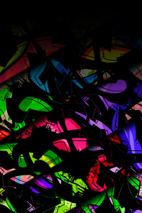 240x320 Glass Broken Colors Abstract 5k