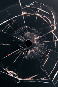 2160x3840 Glass Bullet Hole