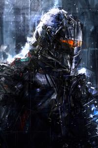 2160x3840 Glass Robot 4k