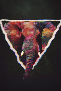 Glitch Elephant Art