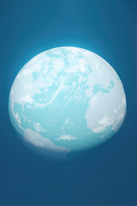 320x480 Globe Planet Minimal 4k