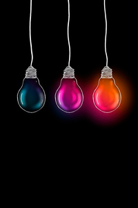 1242x2688 Glowing Bulb 5k
