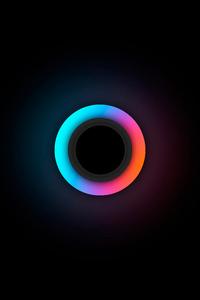 720x1280 Glowing Circle 5k