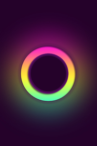 320x480 Glowing Circle Abstract 4k