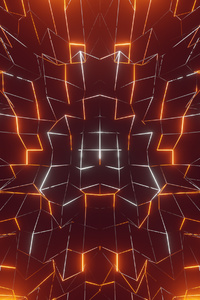 640x1136 Glowing Lines Abstract 4k