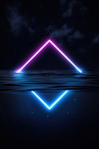 Glowing Triangle Neon