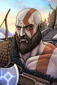 540x960 God Of War 10k Artwork