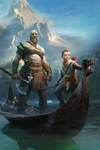 720x1280 God Of War 4 2018