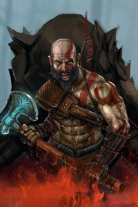480x800 God Of War 4 Art