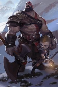 720x1280 God Of War 4 Fanart