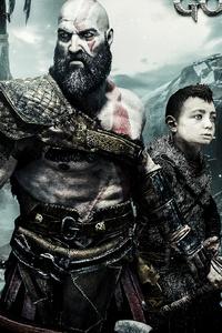 640x1136 God Of War 4 Kratos And Atreus