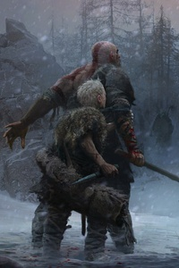 540x960 God Of War 4 Ps4 Concept Art 5k