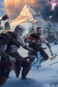 God Of War 4k Artwork
