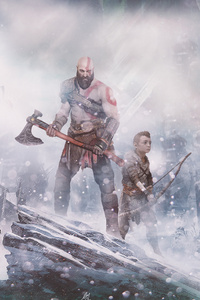 1080x2160 God Of War 4k