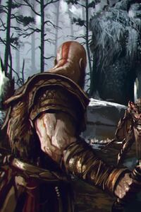 480x800 God Of War Art