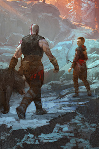 1125x2436 God Of War Concept Art 5k