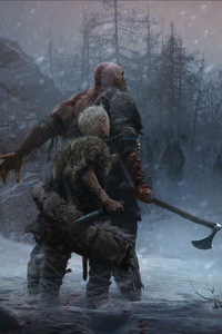 480x800 God Of War Defining The Norse Direction