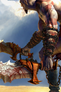 640x1136 God Of War Game