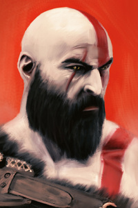 540x960 God Of War Kratos Art