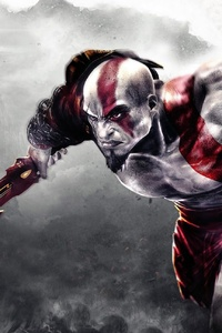 640x1136 God Of War Kratos Game