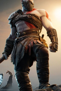 1080x2160 God Of War Kratos In Fortnite 2021